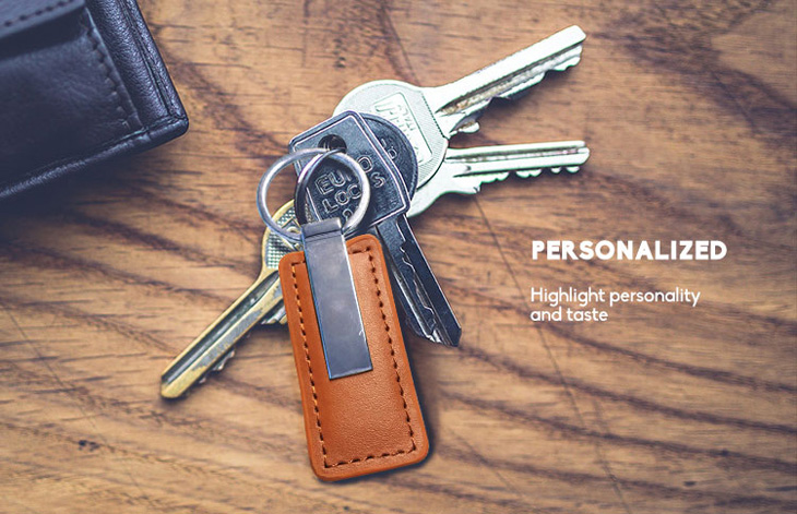Luxury RFID Leather Keyfob For Membership