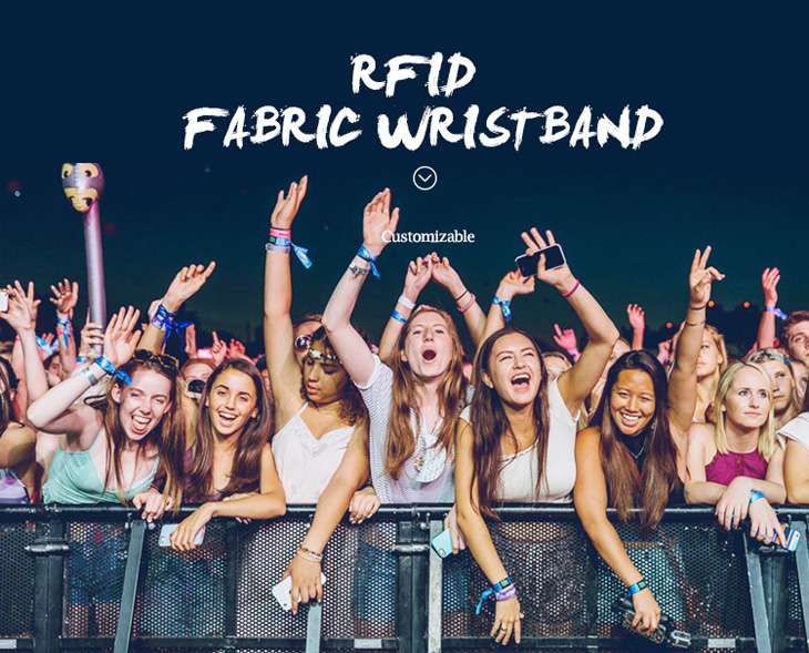 Fashion RFID Fabric Wristband For Concert
