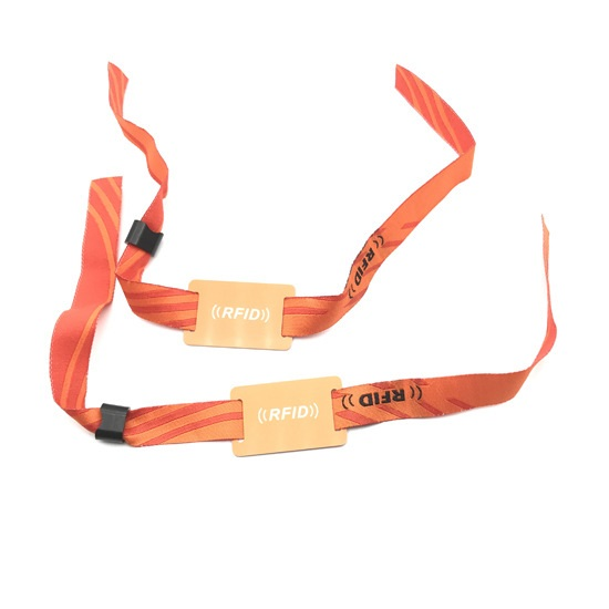 Disposable Nylon Fabric RFID Wristbands For Event