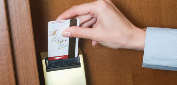 magnetic stripe hotel lock card