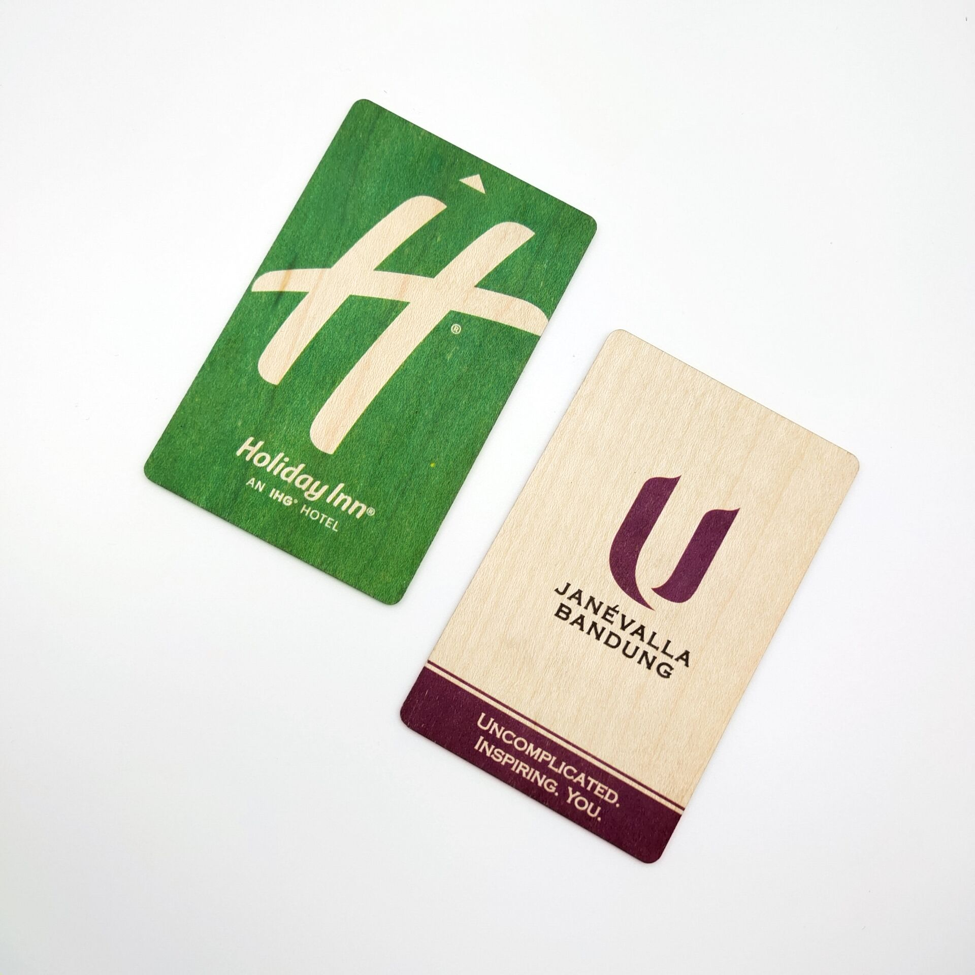 Wooden Hotel key cards