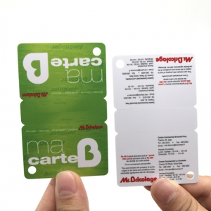 3 Up Membership Tags PVC Combo Cards