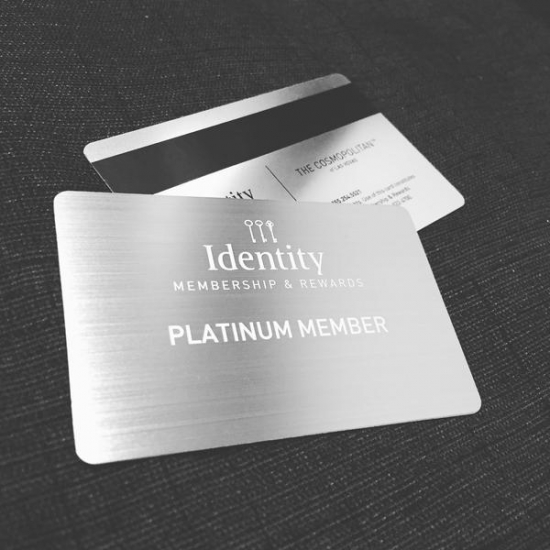 Metallic Membership Card
