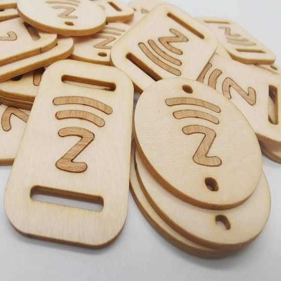 Wooden Business tag
